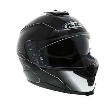 HJC IS-17 Arcus Black White Full Face Motorcycle Helmet - XL Free Pinlock
